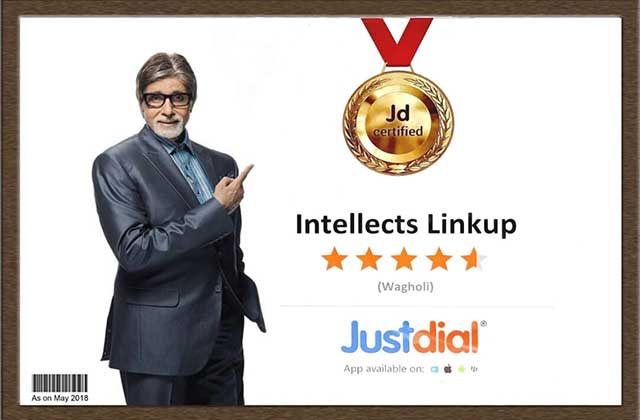 Justdial Certificate of Intellects Linkup